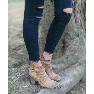 Free People Strappy Hybrid Bootie in Natural
